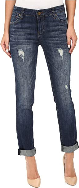 Catherine Boyfriend Jeans in Allowing w/ Dark Stone Base Wash
