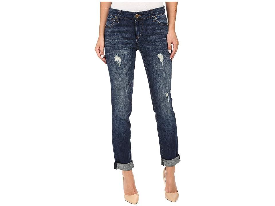 KUT from the Kloth Catherine Boyfriend Jeans in Allowing w/ Dark Stone Base Wash (Allowing/Dark Stone Base Wash) Women