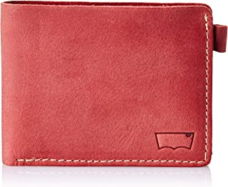 Levi's Red Men's Wallet (Washed Saddle Stitch Wallet)