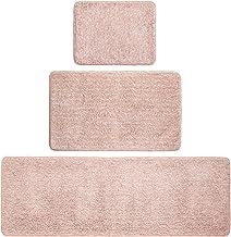 mDesign 100% Polyester Luxury Rectangular Spa Mat Rugs, Plush Water Absorbent - for Bathroom Vanity, Bathtub/Shower, Machi...