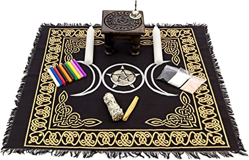 lowest Alternative Imagination Deluxe Wiccan Altar Supply Kit Featuring online sale Triquetra wholesale Altar Table sale