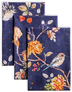 Maison d' Hermine Kelim 100% Cotton Infinity Set of 3 Kitchen Towels 20 Inch by 27.5 Inch. Perfect for Thanksgiving and Christmas