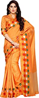 MIMOSA Tassar Silk Saree With Blouse Piece(4132-215-Sd-Org_Mustard Free Size)