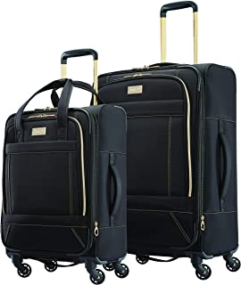 Belle Voyage Softside Luggage with Spinner Wheels, Black,...