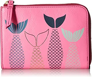 Fossil RFID Travel Wallet Neon Pink