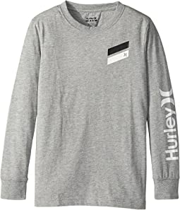 Hurley Kids - Icon Slash Long Sleeve Tee (Big Kids)