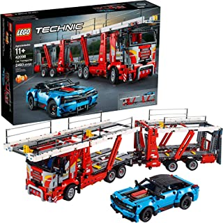 LEGO Technic Car Transporter 42098 Toy Truck and Trailer Building Set with Blue Car, Best Engineering and STEM Toy for Boys and Girls (2493 Pieces)