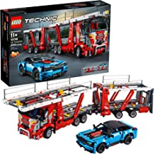 LEGO Technic Car Transporter 42098 Toy Truck and Trailer Building Set with Blue Car, Best Engineering and STEM Toy for Boys and Girls, New 2019 (2493 Pieces)