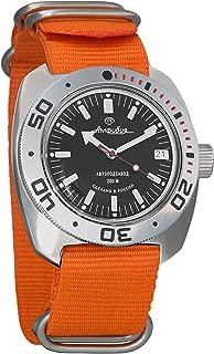 Vostok Amphibian Automatic Mens Wristwatch Self-Winding Military Diver Amphibia Ministry Case Wrist Watch #710662