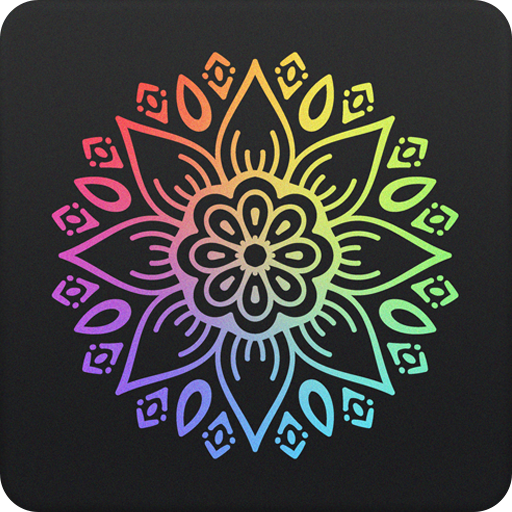Coloring book 2018 with mandalas