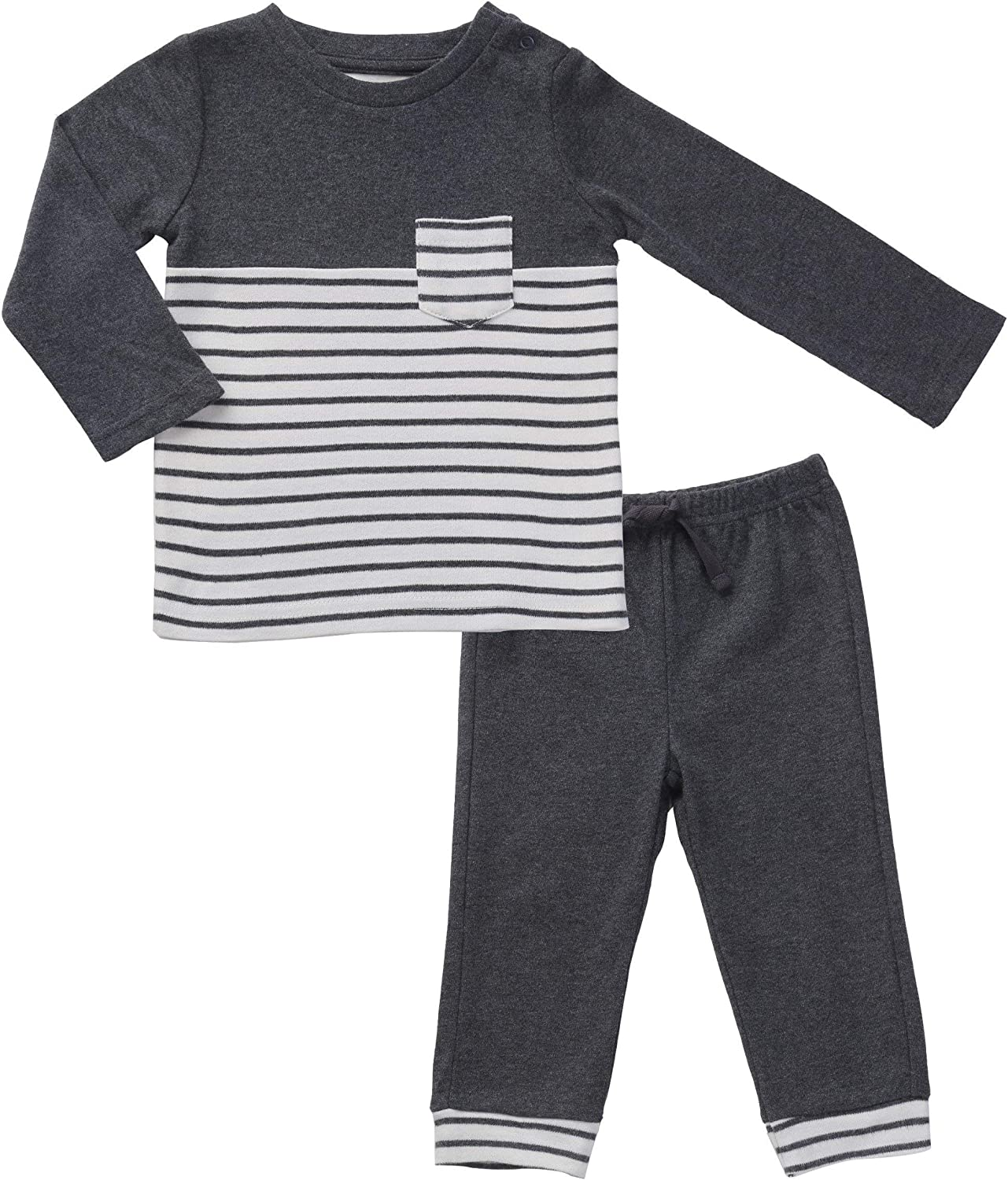 Gender Neutral Baby Clothes Black Max 41% OFF T-Shirt and White Striped Phoenix Mall