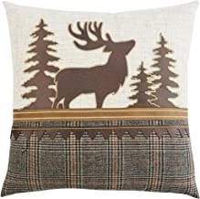 Comfy Hour 14x14 Plaid Moose Accent Pillow Throw Pillow Fashionable Cushion