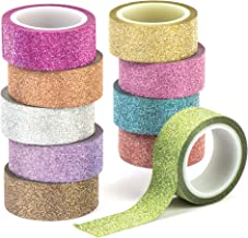 Baker Ross Glitter Tape Value Pack for Kids' Crafts and Art Projects, Cards, Party Bags, and Decorations (Pack of 10)