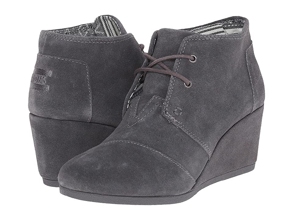 TOMS Desert Wedge (Castlerock Grey Suede) Women