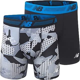 """New Balance Mens Premium Performance 9"""" Boxer Brief Underwear 2-Pack"""