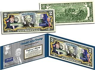 DONALD J. TRUMP President MAGA 2016 OFFICIAL Colorized Legal Tender U.S. $2 Bill
