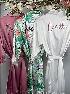 Bridesmaid Personalized Robes, Wedding Robes, Custom Bridal Robes, Bridesmaid Gift, Satin Kimono Robes, 500