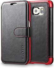 Galaxy S6 Edge Case Wallet,Mulbess [Layered Dandy][Vintage Series][Black] - [Ultra Slim][Wallet Case] - Leather Flip Cover with Credit Card Slot for Samsung Galaxy S6 Edge SM-925