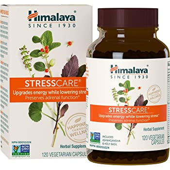 Himalaya StressCare for Natural Stress & Anxiety Relief, 120 Capsules, 1 Month Supply