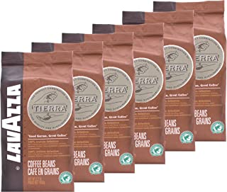Lavazza Coffee Espresso Tierra Intenso, Whole Beans, Pack of 6, 6 x 1000g