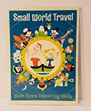 Disney Wonderground Gallery Small World Postcard by Dave Perillo