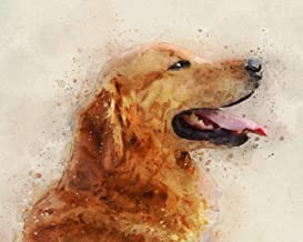 Golden Retriever Watercolor Art Print in Various Sizes | Dark Golden Dog Wall Decor for a Nursery, Home, or Office | A Perfect Gift for a Golden Lover, Golden Mom, Pet Remembrance or Pet Memorial
