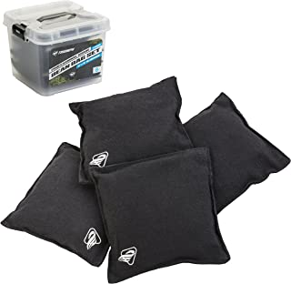 "Triumph Sports Black Canvas Cornhole Bags – 4 Bags Included, Size 6"" x 6"" 16 oz (12-0055BK-2W)"