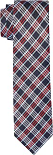 Van Heusen Men's Silk Check Tie, Sky Blue
