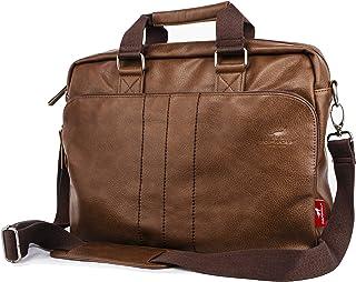"""15.6"""" PU Leather Laptop Bag Business Briefcase Hand Bag Computer Notebook Office Working Doctor Bag Shoulder Crossbody Bag Handbag"""