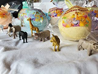 6 SAFARI ANIMALS Bath Bomb For Kids With Surprise Toys Inside (SAFARI ANIMAL) USA made, Natural, Organic XL 5 oz Gift For Girls/Boys (6-Pack Gift Set)