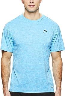 ab87f1ec HEAD Men's Crewneck Gym Training & Workout T-Shirt - Short Sleeve  Activewear Top