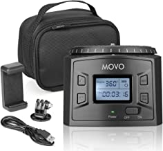 Movo MTP-20 Programmable Panoramic Time-Lapse Tripod Head with Adjustable Rotating Angle, Direction, and Speed - Compatible with Smartphones, GoPro, Mirrorless and DSLR Cameras up to 4.4 Lbs