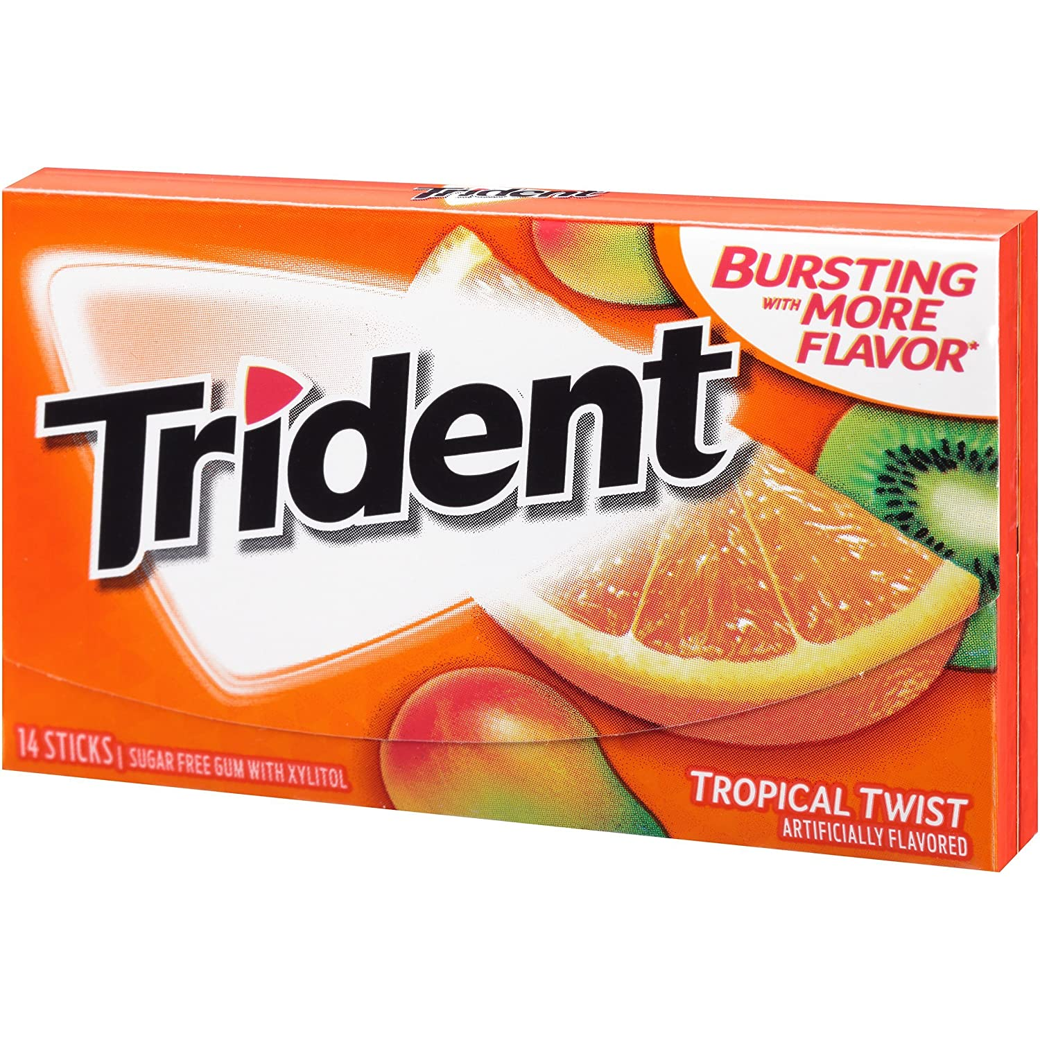 Trident Sugarless Gum Tropical Twist of Pack discount Packages 14-Count Over item handling ☆