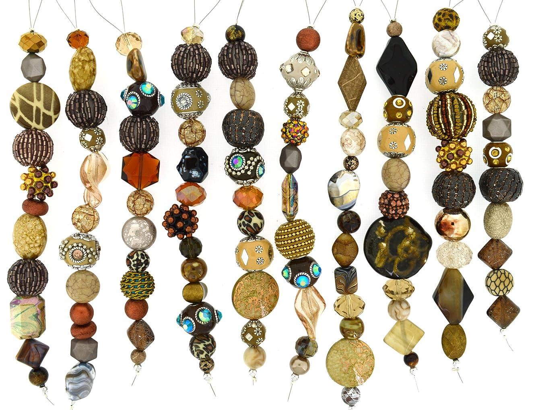 Jesse James Strand Beads, Assortment Brown, Set of 10