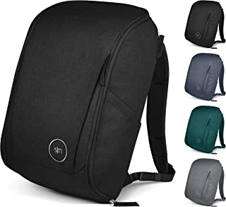 Simple Modern Wanderer Backpack with Laptop Sleeve - 25L Travel Bag for Men & Women College Work School - Wanderer: Midnight Black