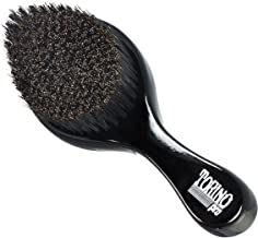 Torino Pro Curve Wave Brush by Brush King - #450 - Medium Hard Curve Wave Brush - Made with Reinforced Boar & Nylon Bristles -True Texture Medium Hard 360 Waves Brushes