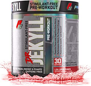 ProSupps Dr. Jekyll Stimulant-Free Nitric Oxide Boosting Pre-Workout, Caffeine-Free, Energy Powder, 30 Servings of Intense Focus, Energy