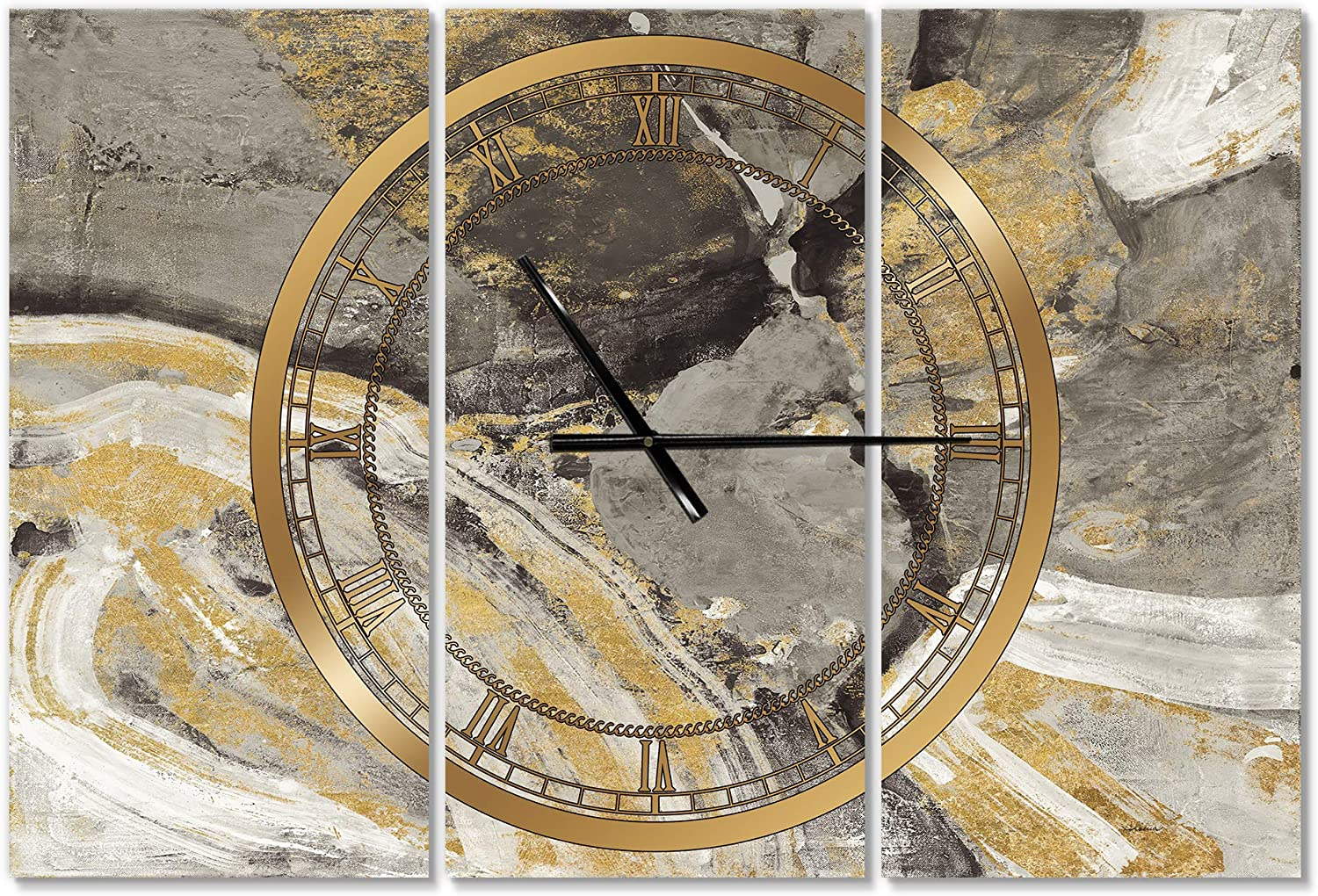 DesignQ 'Glam Phoenix Neutral' Modern Wall Home Clock Bedroo 67% OFF of fixed price for List price