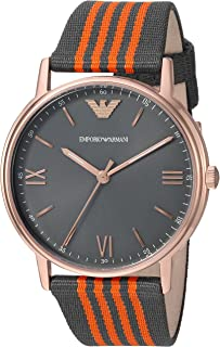 Emporio Armani Men's Quartz Watch, Analog Display and Nylon Strap AR11014
