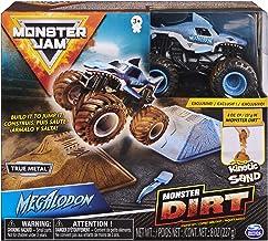 Monster Jam, Megalodon Monster Dirt Starter Set, Featuring 8oz of Monster Dirt and Official 1:64 Scale Die-Cast Monster Ja...