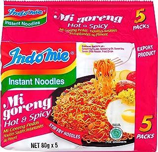 Indomie Mi Goreng Hot and Spicy Flavour Instant Noodles, 80g x 5
