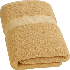 Utopia Towels - Luxurious Jumbo Bath Sheet (35 x 70 Inches, Beige) - 700 GSM 100% Ring Spun Cotton Highly Absorbent and Quick Dry Extra Large Bath Towel - Super Soft Hotel Quality Towel