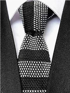 "Knit Ties for Men Vintage Business Smart Casual 2"" Skinny Stripe Knit Tie Striped Necktie - Various Colors"