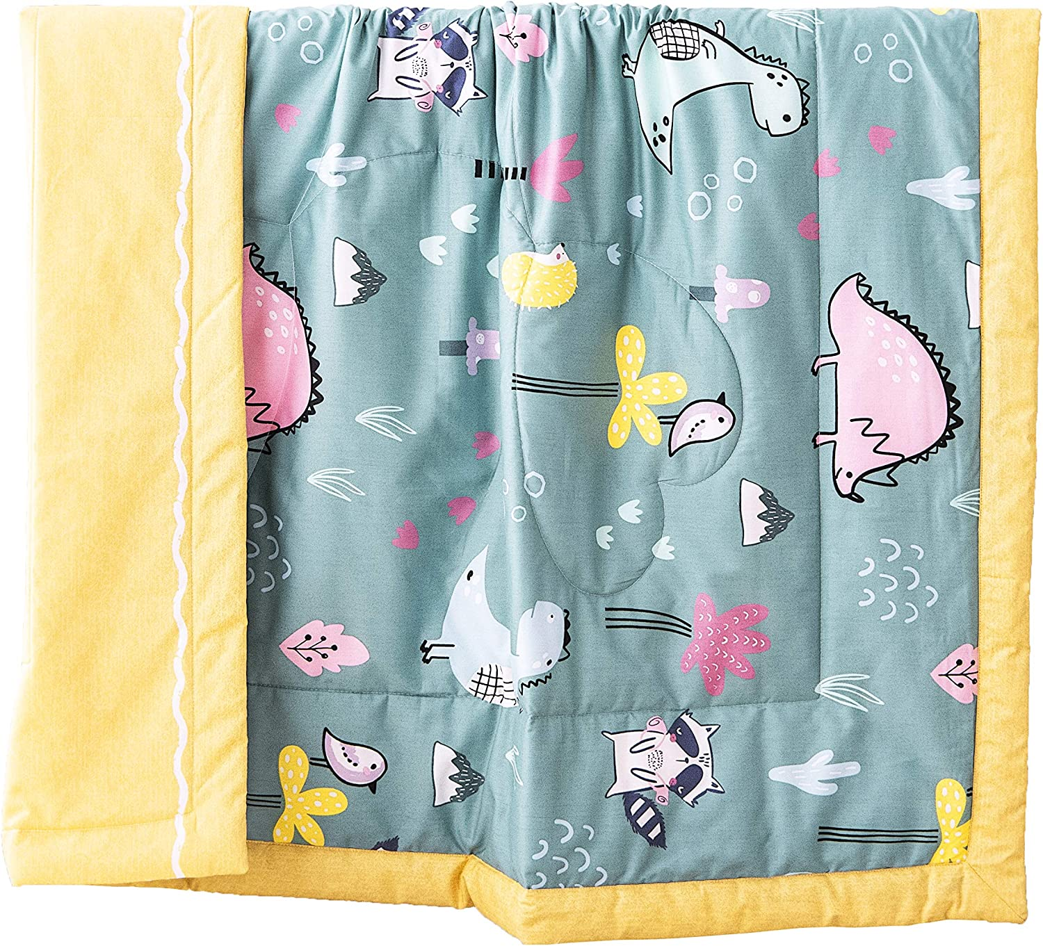 J-pinno Mermaid Cute Quilt Lightweight Comforterl for Toddler Girls Bed Coverlet Couch Sofa Outdoor Blanket Gift Standard Crib 47 X 59