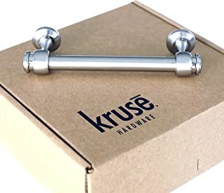 (Qty 10 per Package) Kruse Hardware - Milano Door and Drawer Pulls - 4in Center-to-Center, Brushed Satin Nickel