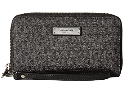 MICHAEL Michael Kors Wristlets Large Flat Multifunction Phone Case (Black) Wallet