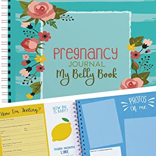 My Belly Book - Pregnancy Journal and Baby Memory Book with Stickers - Baby's Scrapbook and Photo Album - Perfect Gift for First Time Moms - Picture and Milestone Books for Toddlers (New Version)