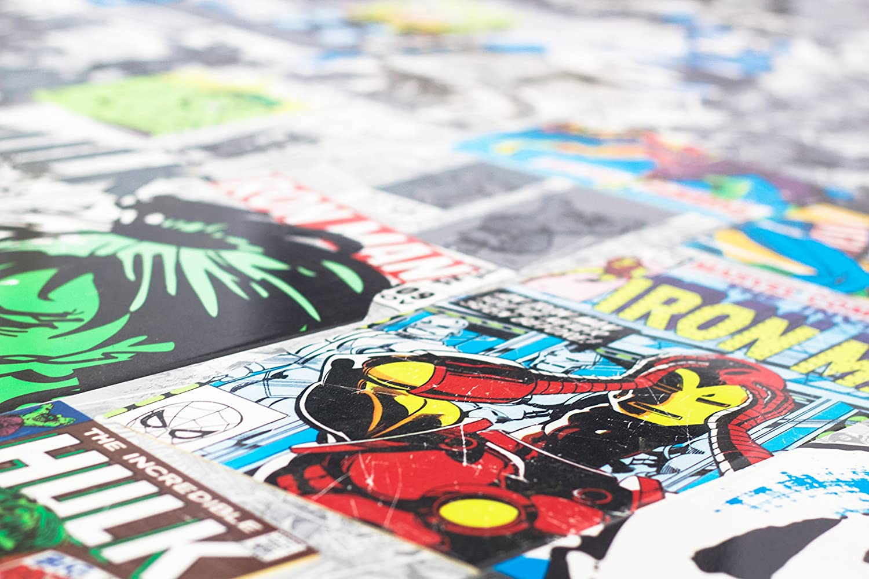 Suelo laminado con licencia oficial s/úper brillante Marvel Comics fabricado en Alemania
