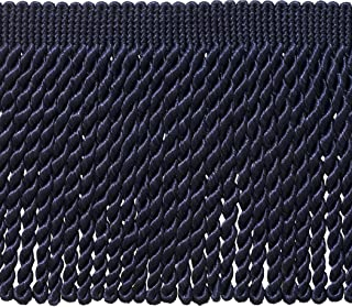 DÉCOPRO 6 Inch Long Dark Navy Blue Bullion Fringe Trim, Basic Trim Collection, Style BFS6 Color: J3, Sold by The Yard