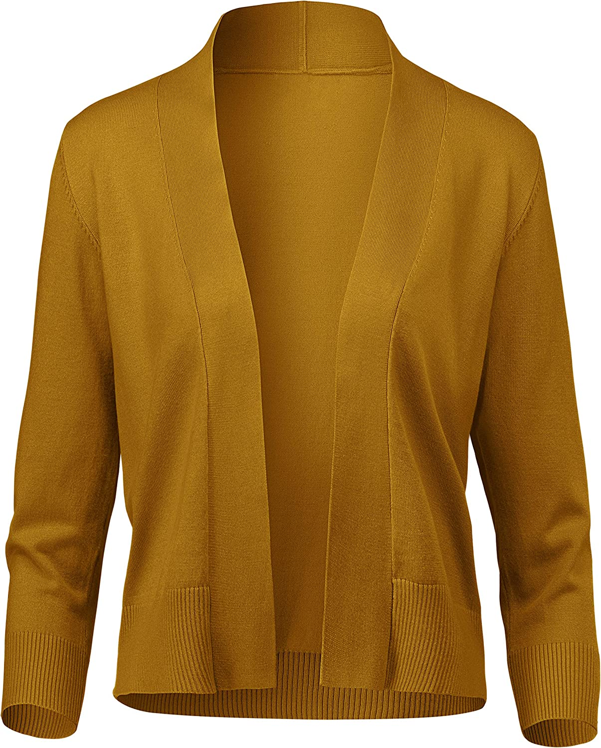 Women's Classic Max 45% OFF 3 4 Sleeve Max 84% OFF Open S Cropped Bolero Front Cardigan